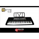 Teclado Arranjador Spring TC361 / teclas sensíveis ao toque / USB to host/  Pitch bend